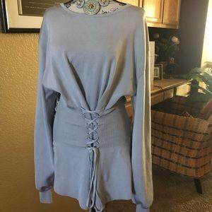 Preloved Zara Knit Grey Tunic sweater size S